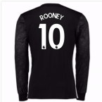 2017-18 Man Utd Away Long Sleeve (Rooney 10)