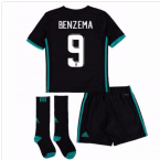 2017-18 Real Madrid Away Full Kit (Benzema 9)