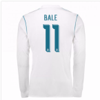 2017-18 Real Madrid Long Sleeve Home Shirt (Bale 11)