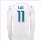 2017-18 Real Madrid Long Sleeve Home Shirt - Kids (Bale 11)