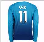 2017-2018 Arsenal Away Long Sleeve Shirt (Ozil 11) - Kids