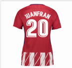 2017-2018 Atletico Madrid Womens Home Shirt (Juanfran 20)