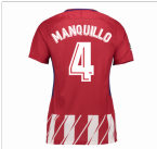 2017-2018 Atletico Madrid Womens Home Shirt (Manquillo 4)