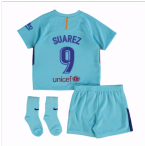 2017-2018 Barcelona Away Baby Kit (Suarez 9)