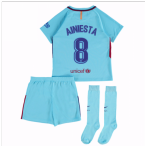 2017-2018 Barcelona Away Mini Kit (A Iniesta 8)