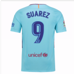 2017-2018 Barcelona Away Shirt (Suarez 9)