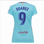 2017-2018 Barcelona Womens Away Shirt (Suarez 9)