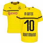 2018-19 Borussia Dortmund Home UCL Football Shirt (M Gotze 10)