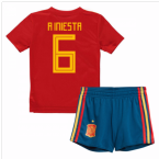 2018-19 Spain Home Baby Kit (A Iniesta 6)