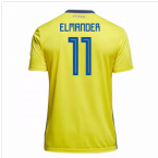 2018-19 Sweden Home Shirt (Elmander 11) - Kids