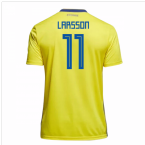 2018-19 Sweden Home Shirt (Larsson 11) - Kids