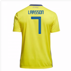 2018-19 Sweden Home Shirt (Larsson 7)