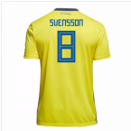 2018-19 Sweden Home Shirt (Svensson 8) - Kids