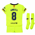2018-2019 Barcelona Away Nike Little Boys Mini Kit (A.Iniesta 8)