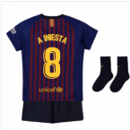 2018-2019 Barcelona Home Nike Baby Kit (A Iniesta 8)