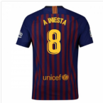 2018-2019 Barcelona Home Nike Football Shirt (A Iniesta 8)