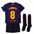 2018-2019 Barcelona Home Nike Little Boys Mini Kit (A Iniesta 8)