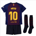 2018-2019 Barcelona Home Nike Little Boys Mini Kit (Messi 10)