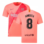 2018-2019 Barcelona Third Nike Football Shirt (A.Iniesta 8)