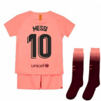 2018-2019 Barcelona Third Nike Little Boys Mini Kit (Messi 10)