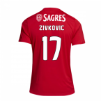 2018-2019 Benfica Adidas Home Football Shirt (Zivkovic 17)