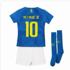 2018-2019 Brazil Away Nike Little Boys Mini Kit (Neymar Jr 10)