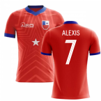 2018-2019 Chile Home Concept Football Shirt (ALEXIS 7) - Kids