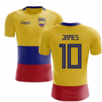 2020-2021 Colombia Flag Concept Football Shirt (James 10) - Kids