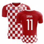 9ff7d4ed6d6 2018-2019 Croatia Flag Concept Football Shirt (Srna 11)