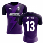 2018-2019 Fiorentina Fans Culture Home Concept Shirt (Astori 13) - Kids