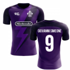 2018-2019 Fiorentina Fans Culture Home Concept Shirt (Giovanni Simeone 9) - Kids