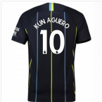 2018-2019 Man City Away Nike Football Shirt (Kun Aguero 10) - Kids