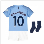2018-2019 Man City Home Nike Baby Kit (Kun Aguero 10)