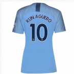 2018-2019 Man City Home Nike Ladies Shirt (Kun Aguero 10)