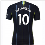 2018-2019 Man City Nike Vapor Away Match Shirt (Kun Aguero 10)