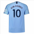 2018-2019 Man City Nike Vapor Home Match Shirt (Kun Aguero 10)