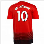 2018-2019 Man Utd Adidas Home Football Shirt (Ibrahimovic 10)