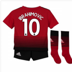 2018-2019 Man Utd Adidas Home Little Boys Mini Kit (Ibrahimovic 10)