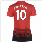 2018-2019 Man Utd Adidas Womens Home Shirt (Ibrahimovic 10)