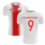 2018-2019 Poland Home Concept Football Shirt (Lewandowski 9) - Kids