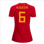 2018-2019 Spain Home Adidas Womens Shirt (A Iniesta 6)