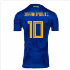 2018-2019 Sweden Away Adidas Football Shirt (Ibrahimovic 10) - Kids