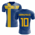 2020-2021 Sweden Flag Concept Football Shirt (Ibrahimovic 10) - Kids
