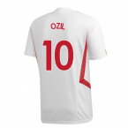 2019-2020 Arsenal Adidas Training Shirt (White) (OZIL 10)