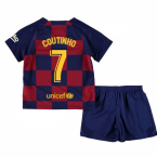 2019-2020 Barcelona Home Nike Little Boys Mini Kit (COUTINHO 7)