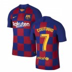 2019-2020 Barcelona Home Vapor Match Nike Shirt (Kids) (COUTINHO 7)