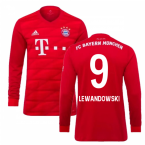 2019-2020 Bayern Munich Adidas Home Long Sleeve Shirt (Kids) (LEWANDOWSKI 9)