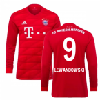 2019-2020 Bayern Munich Adidas Home Long Sleeve Shirt (LEWANDOWSKI 9)