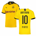 2019-2020 Borussia Dortmund Puma Authentic Home Football Shirt (M GOTZE 10)