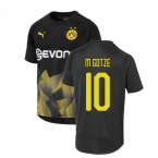 2019-2020 Borussia Dortmund Puma International Stadium Shirt (Black) (M GOTZE 10)